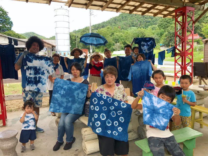 【藍染ワークショップ】上ノ原牧場カドーレでの藍染ワークショップ