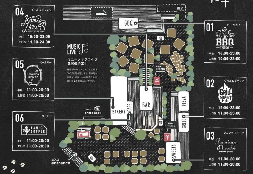 THE FARM TOKYO テラスマップ
