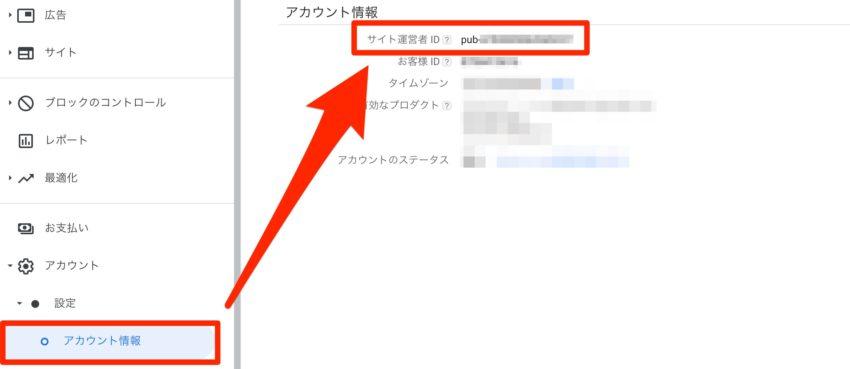 AdSenseサイト運営者情報