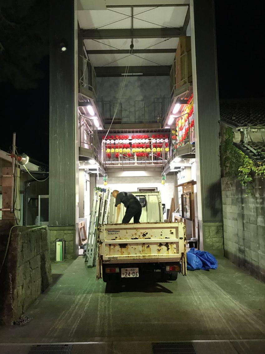 曳山の収納場所