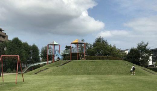 【石金夢の森公園】小学生がデザインした芝生が綺麗で気持ちいい公園
