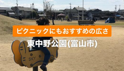 【東中野公園(富山市)】ピクニックができる広い公園|近くにおしゃれカフェも