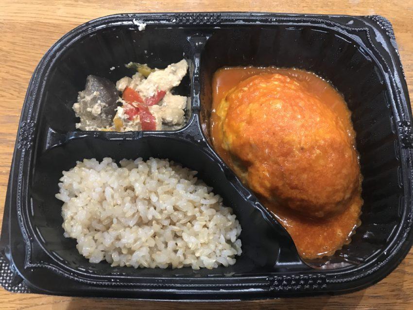 豆腐ハンバーグと味噌炒めセット