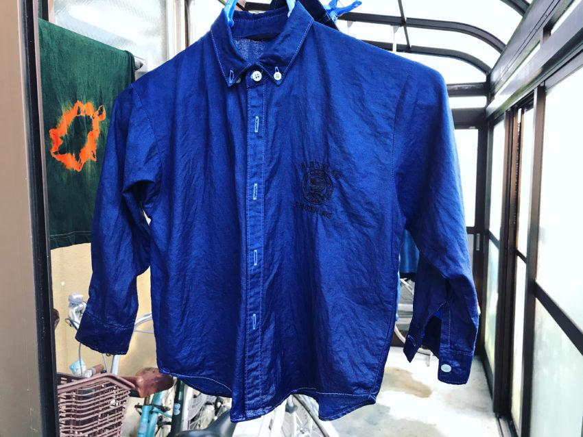 藍染リメイク 子供服