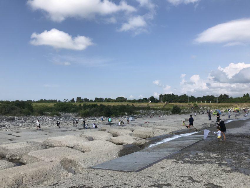 常願寺川 川遊び