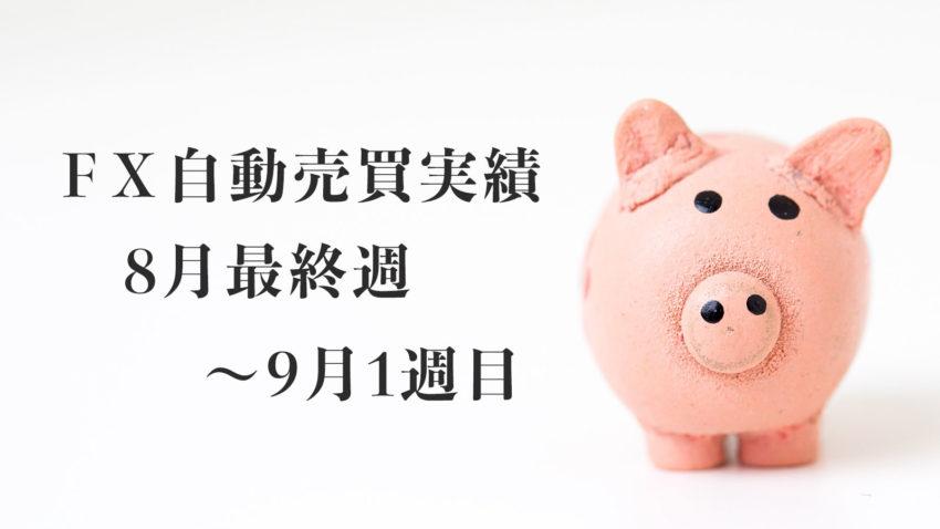 【FX自動売買(EA)運用実績】2020年8月最終週〜9月1週目