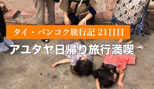 【タイ・バンコク子連れ旅行記21日目】アユタヤ満喫日帰り旅行&リッチディナー