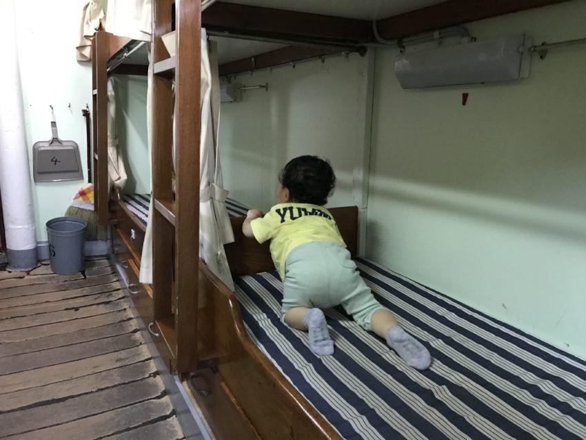 海王丸 寝室