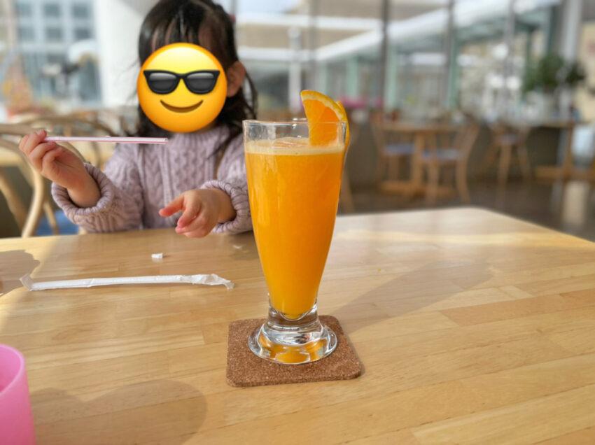 オレンジ生ジュース