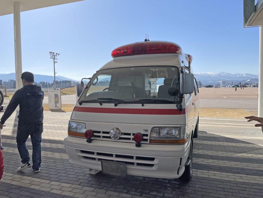 防災フェスティバル 救急車