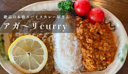【アガ〜リcurry】滑川にある絶品おすすめスパイスカレーのお店