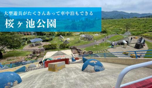 【桜ヶ池公園】大型遊具でたっぷり遊べて車中泊もできる公園(南砺市)