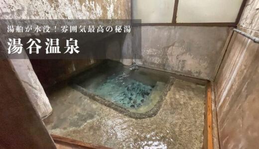 【湯谷温泉】湯船が水没!自噴のかけ流し温泉が楽しめる秘湯(富山県砺波市)